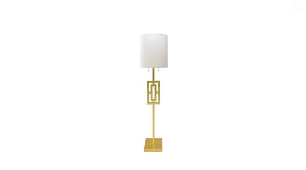 Wesley Floor Lamp- Gold- Clayton Gray Home