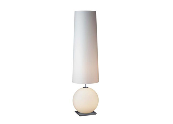 White Round Galileo Halogen Floor Lamp