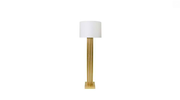 Gibson Floor Lamp- Gold- Clayton Gray Home