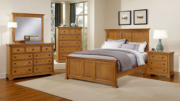 Forsyth BB75 Oak Bedroom Set