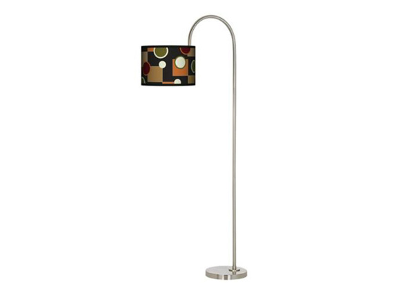 Retro Medley Arc Tempo Giclee Floor Lamp