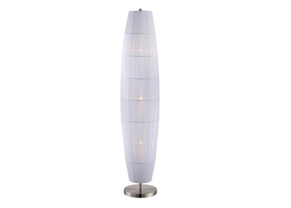 Parvati White Organza Ribbon Floor Lamp
