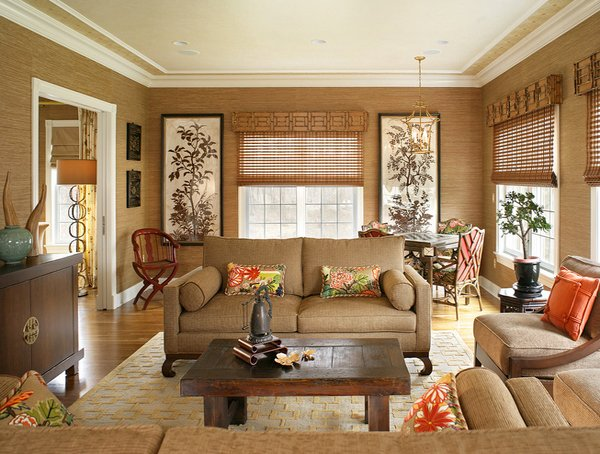 15 relaxing brown and tan living room designs home for Chinese home decorations