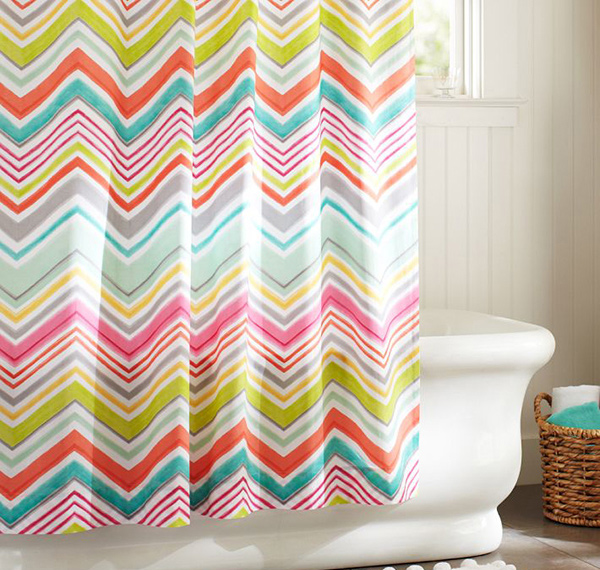 15 Bright And Colorful Shower Curtain Designs Home Design Lover
