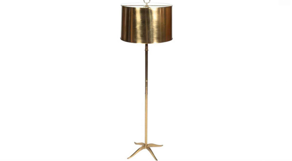 Gold Floor Lamp with Style