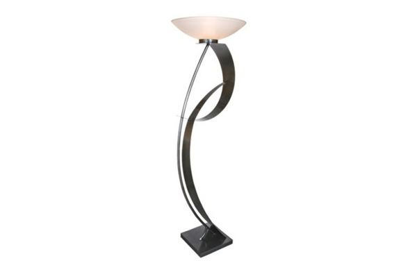 Curvy Lady Two Contemporary Torchiere Floor Lamp