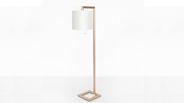 Worlds Away Stephan Gold Leafed Floor Lamp