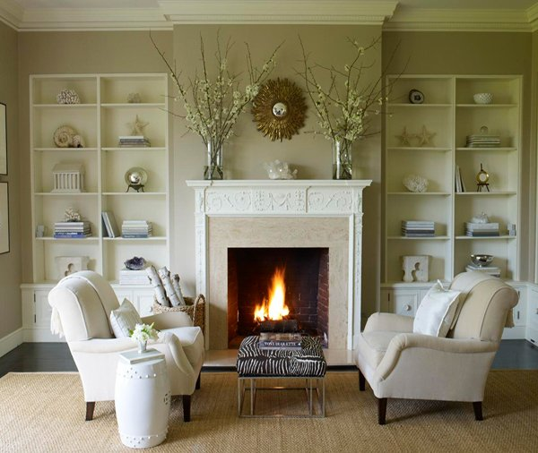 traditional beige living room with fireplace email save photo neutral color palette
