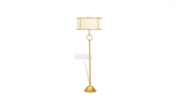 Hollywood Regency Gold Floor Lamp