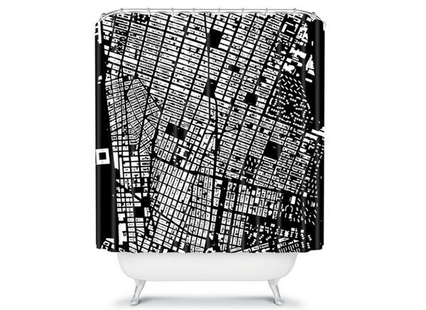 CityFabric Inc NYC Black Shower Curtain