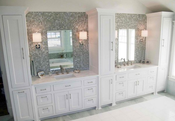 15 Traditional Tall Bathroom Cabinets Design   Home Design Lover. Master Bathroom Linen Cabinets   Rukinet com