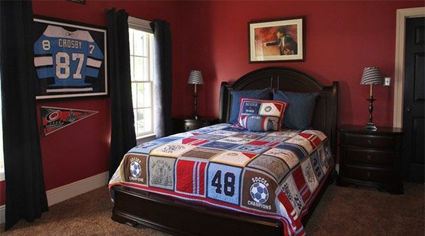 get athletic with 15 sports bedroom ideas | home design lover