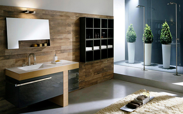 Modern bathroom double vanity - Bathroom The T Shape Design Of The Vanity Is Also One Good Feature