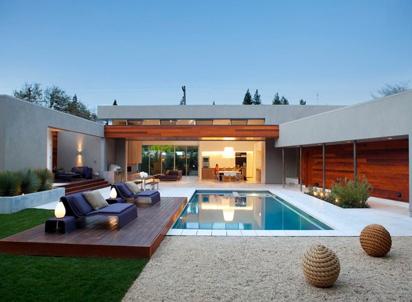 15 lovely swimming pool house designs home design lover - Simple houses design with swimming pool ...