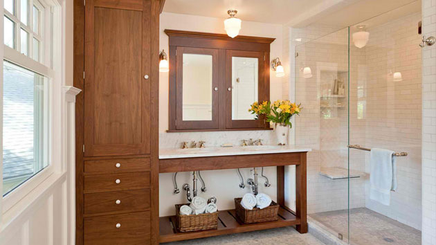 Traditional Tall Bathroom Cabinets Design Home Design Lover