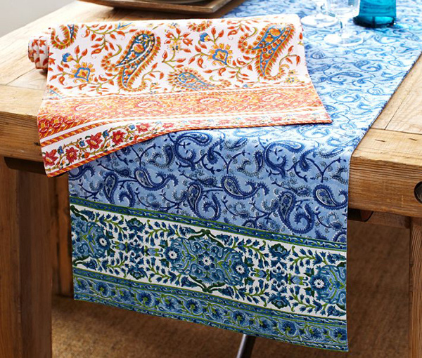 Paisley Block-print Table Runner