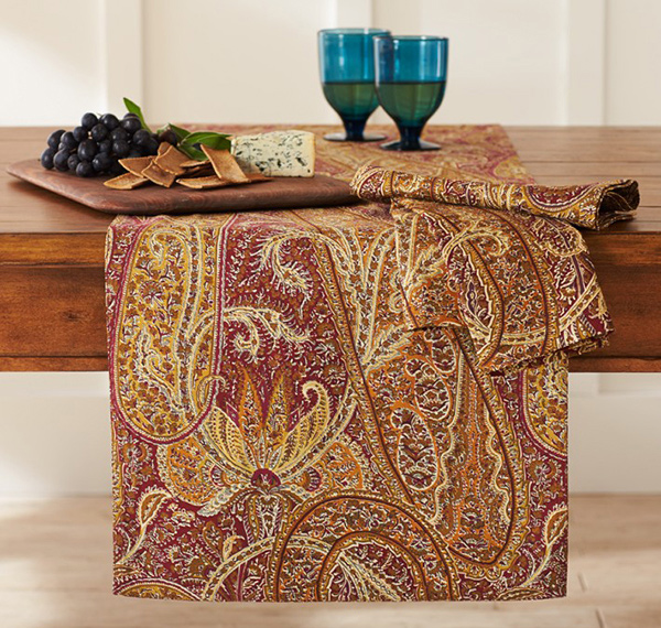 Aurora Paisley Print Table Runner