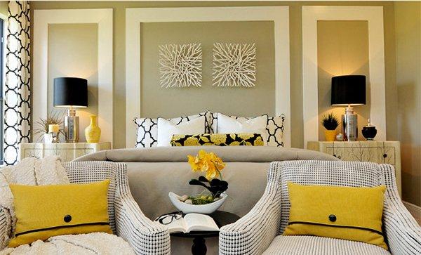 15 Visually Pleasant Yellow and Grey Bedroom Designs – Grey and Yellow Bedroom Designs