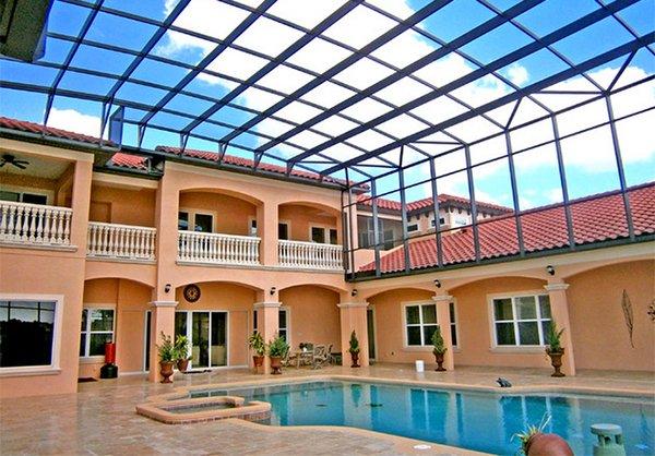 multi-story pool