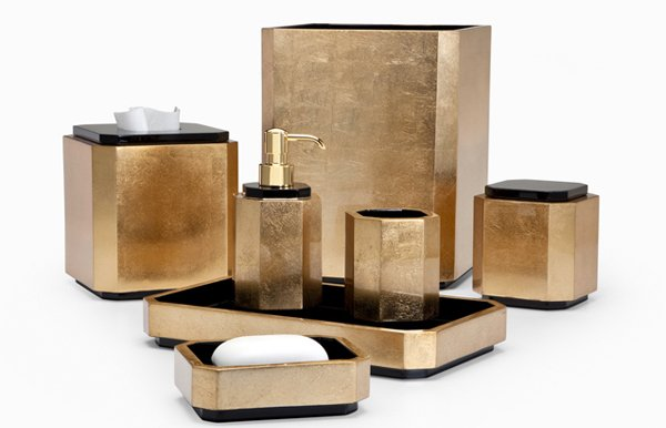 Bathroom Accessories Gold 15 luxury bathroom accessories set | home design lover