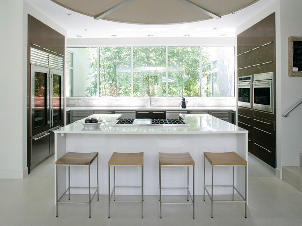 Modern Kitchen Window 15 classy kitchen windows for your home | home design lover