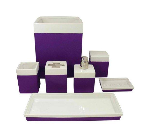 15 elegant purple bathroom accessories home design lover for Purple and white bathroom accessories
