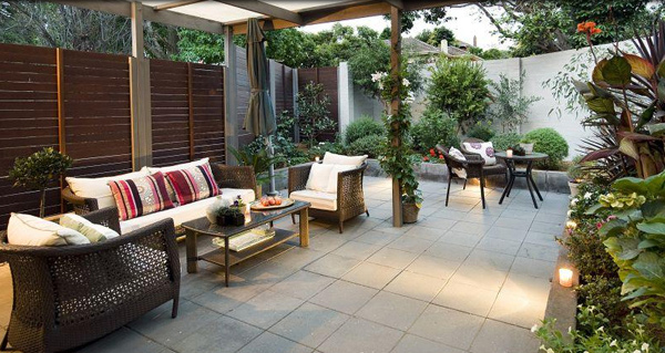 fascinating outdoor living room design | 15 Beautiful Outdoor Living Room Designs | Home Design Lover