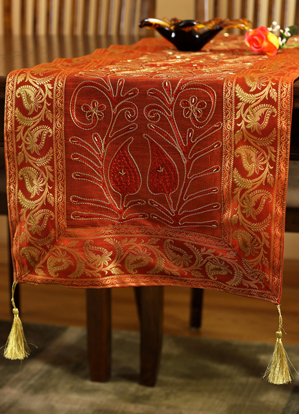 Ornamental Embroidered Table Runner