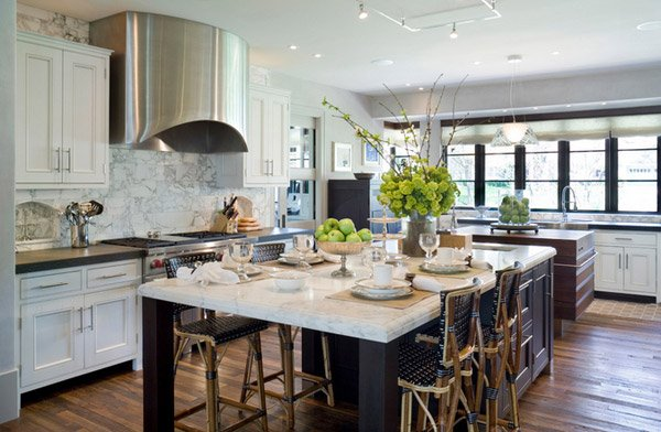 15 pretty kitchen island with seating home design lover for Pretty kitchens