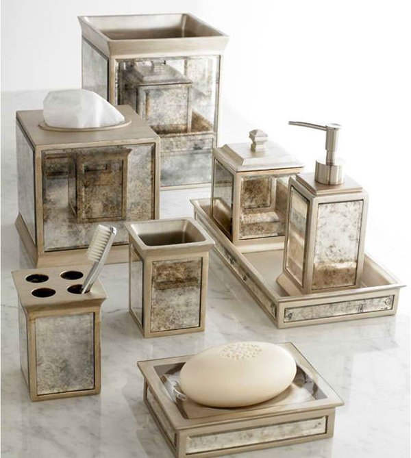 15 luxury bathroom accessories set home design lover for Designer home decor accessories
