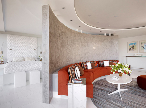 oversized curved wall