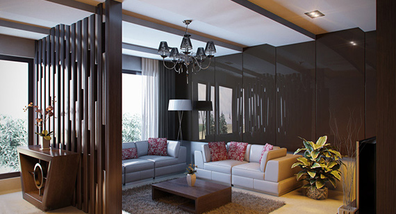 15 beautiful foyer living room divider ideas home design for Living room partition