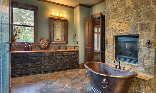 Cool Rustic Bathroom Designs · Indian Lakes Mountain Style Part 75