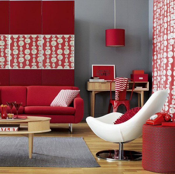 Modern Living Room Red 15 pretty accent walls in the living room | home design lover