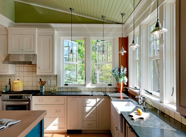 15 classy kitchen windows for your home home design lover for Kitchen ideas no window