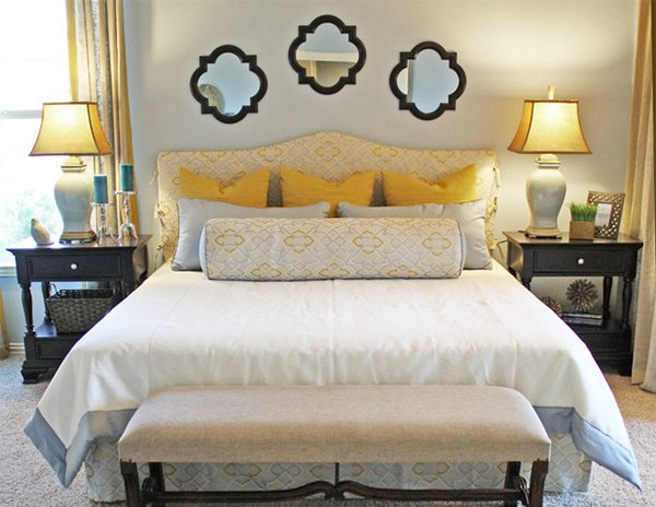 15 visually pleasant yellow and grey bedroom designs home design lover Master bedroom with yellow walls