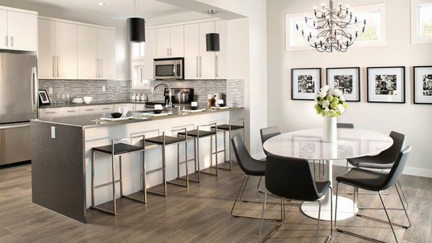 15 different kitchen flooring designs home design lover for Different kitchen design ideas