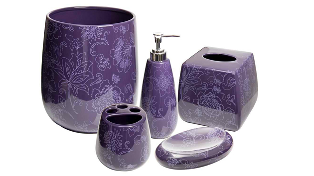 15 elegant purple bathroom accessories home design lover for Bathroom accessories images