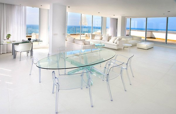15 Lovely Glass Table Dining Rooms | Home Design Lover