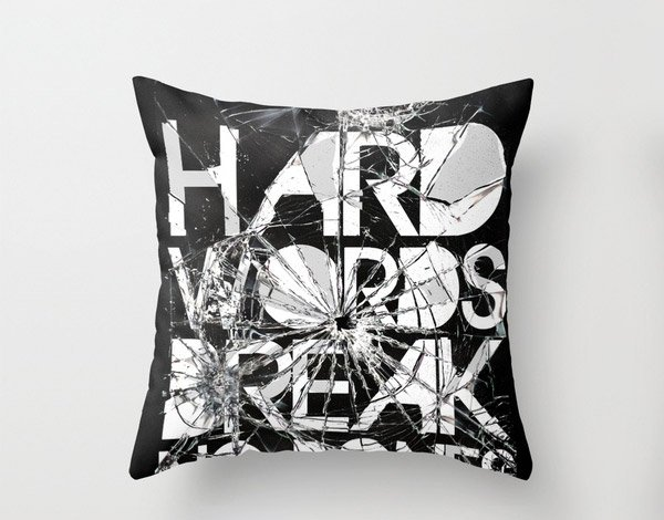 Hard Words Pillow