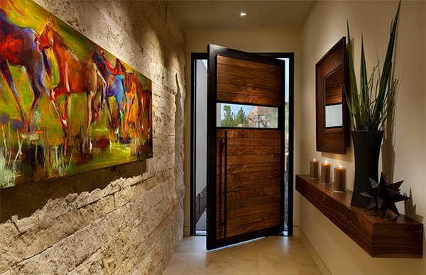 15 contemporary foyer and entry way design ideas home for Exterior entryway design ideas