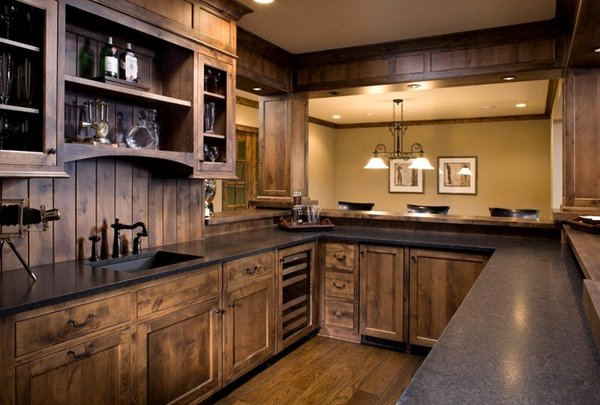 The Dark Color Which Completes This Kitchen Space From The Cabinets
