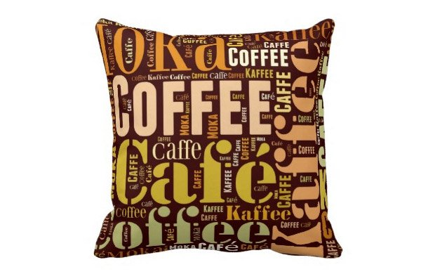 Coffee Throw Pillows Idea