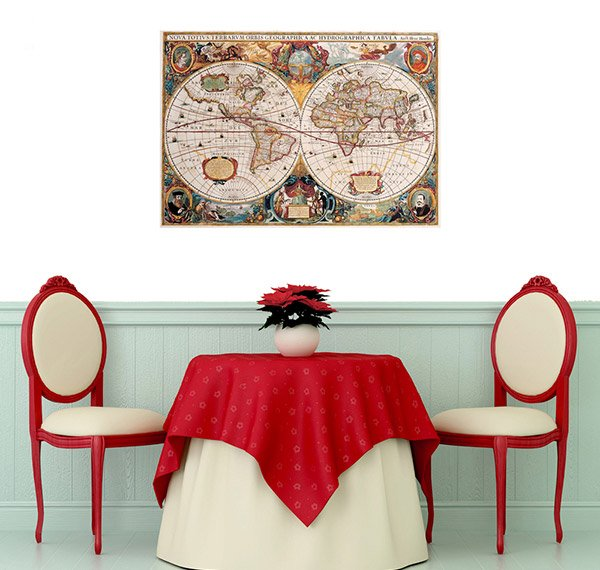 Old Dudes World Map Wall Decal