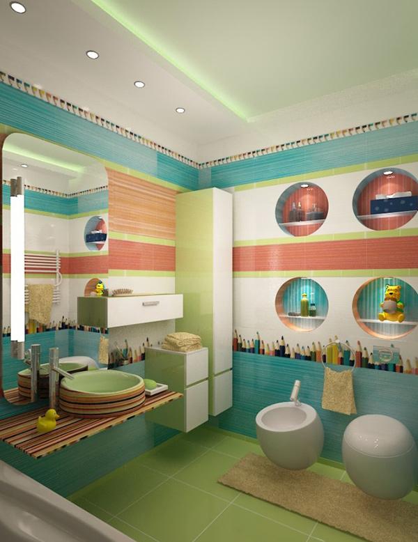 Children green Bathroom