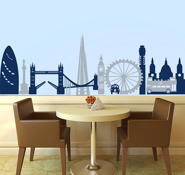 London Montage Decal art