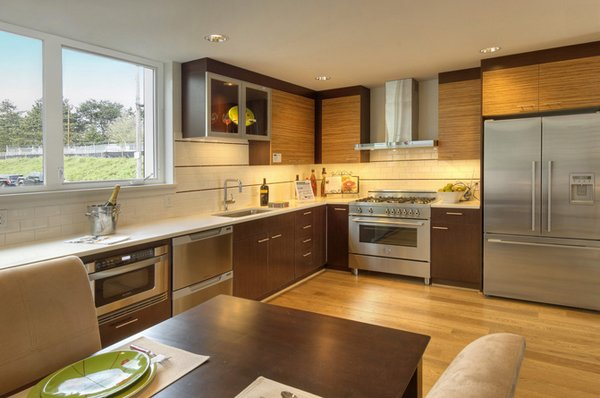 Canal L Shape Kitchen Townhomes Email Save Photo Cabinet Doors Grains Elemental Design