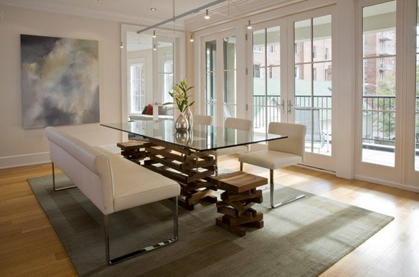 Dining table design15 Lovely Glass Table Dining Rooms   Home Design Lover. Glass Table For Dining Room. Home Design Ideas