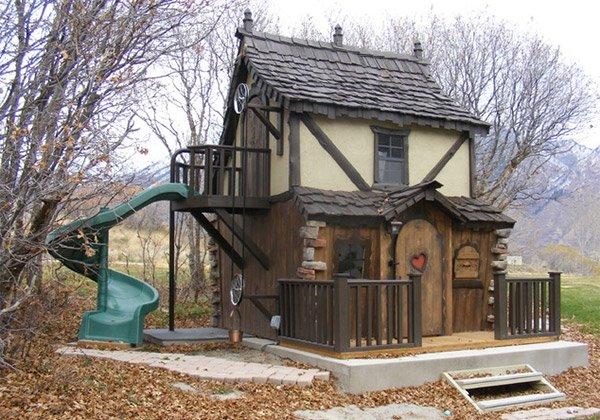 15 Creative Luxury Outdoor Playhouses Home Design Lover