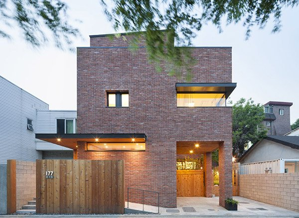 a minimalist brick house in hyojadong, south korea | home design lover